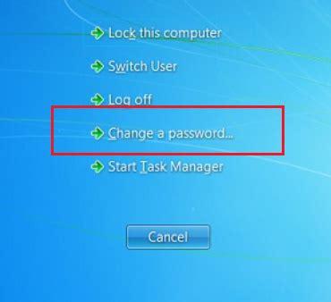 windows reset password vs change password how to change your password college of health sciences
