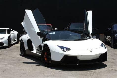 Lamborghini Aventador Roadster White Lamborghini Aventador Roadster South Rentals