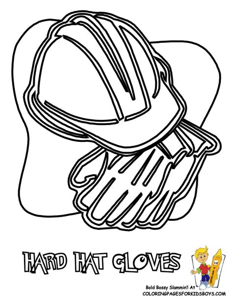coloring page construction hat construction hat coloring page coloring pages