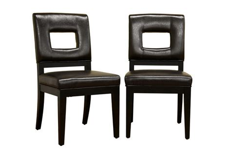 wholesale dining room furniture faustino dark brown leather dining chair set of 2