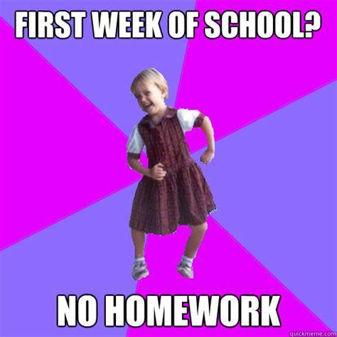 First Week Of School Meme - socially awesome kindergartener memes quickmeme
