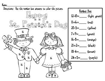 what was the original color of st day st s day color by number addition and