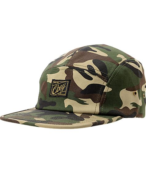 Obey Camo obey expedition camo 5 panel hat