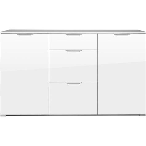 Kommode 140 X 100 by Germania Event Large White High Gloss Sideboard Furniture123