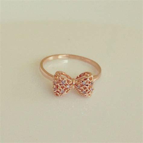 Macy S Duvet Covers Louun Cute Bow Rose Gold Ring