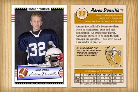 make your own football card pin by custom sports cards on high school football