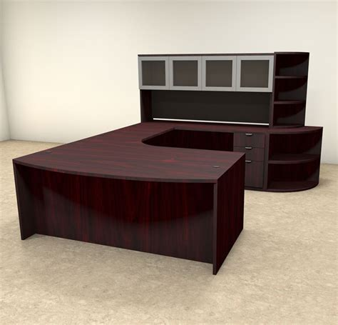 Modern Executive Desk Sets 6pc U Shaped Modern Contemporary Executive Office Desk Set Of Con U13 H2o Furniture