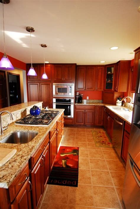 Schrock cabinets   Essence Cherry Briarwood   kitchen