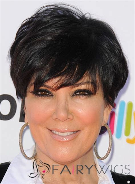 what is kris jenner hair color sensationnel kris jenner short straight capless human hair