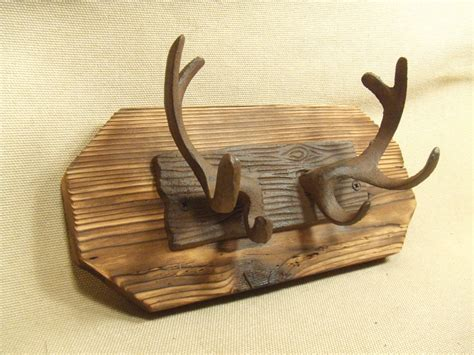 Deer Antler Coat Rack by Rustic Cast Iron Deer Antler Coat Rack Lodge Cabin Decor