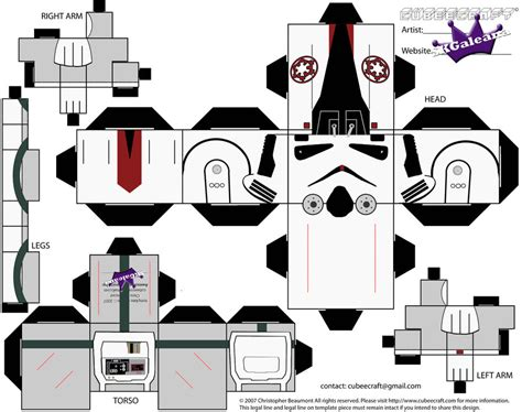 Wars Papercraft Templates - cubercraft de wars todos paper toys papercraft and