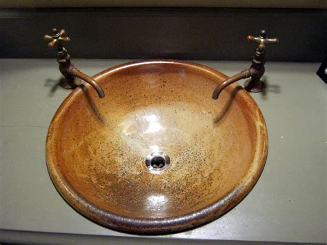pottery bathroom sinks handmade pottery sink for your bathroom remodeling project