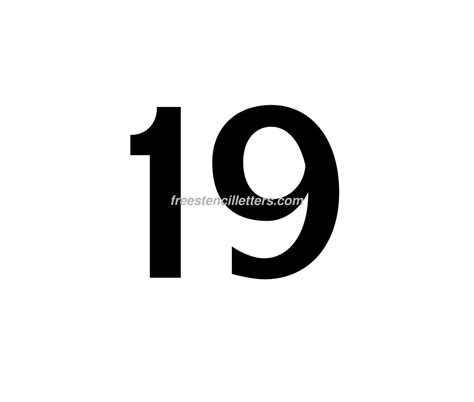19 in lettere print number 19 letter stencil free stencil letters
