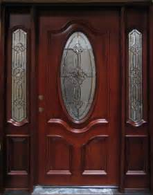 Mahogany Front Door With Glass Solid Wood Mahogany Oval Glass With Sidelights Exterior Pre Hung Door