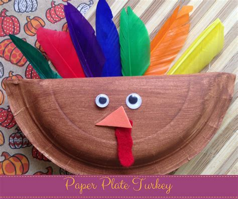 How To Make A Paper Plate Turkey - thanksgiving paper plate turkey annmarie