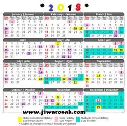 Kalender 2018 Malaysia Dan Cuti Umum Kalender Cuti Umum Dan Takwim Cuti Sekolah 2018