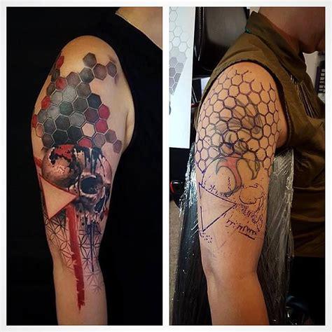chronic ink tattoo chronic ink toronto geometric and skull