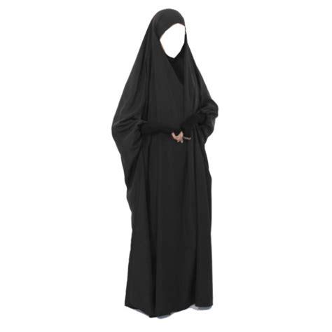 Khimar Jilbab overhead 1 khimar pleated lycra sleeves all in one