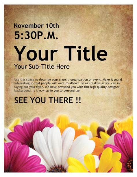 Galerry womens event flyer template