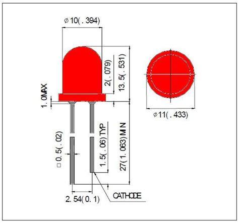 resistor led vermelho 10mm jumbo led