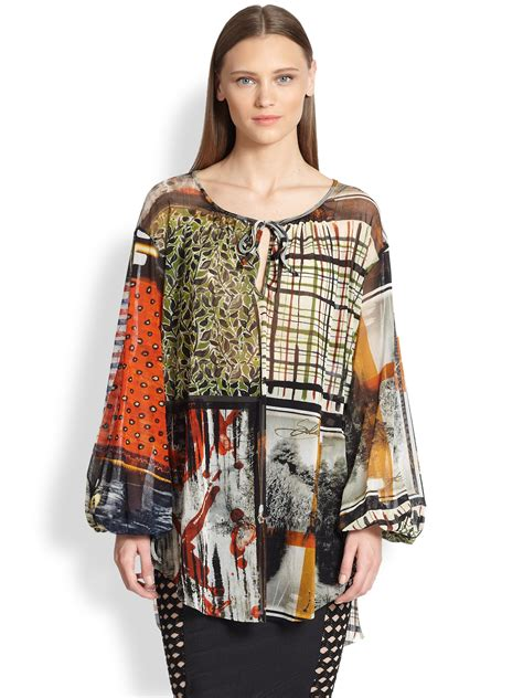Patchwork Tunic - jean paul gaultier patchwork print tunic lyst
