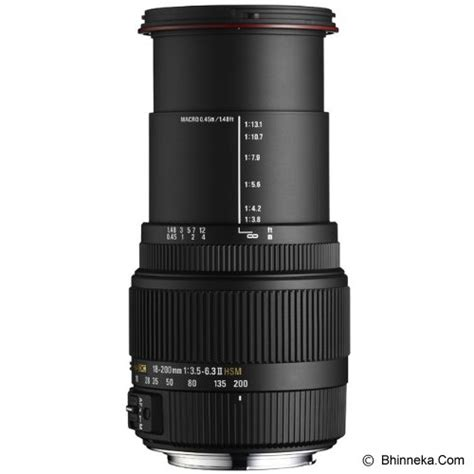Sigma 18 200mm Canon jual sigma 18 200mm f 3 5 6 3 ii dc os hsm for canon murah