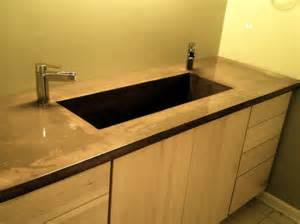 bathroom vanity countertops sink concrete bath vanity with integral sink modern vanity