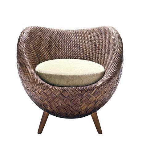 Small Comfortable Rattan Chair La Luna By Kenneth Cobonpue