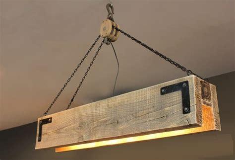 wood beam chandelier wood beam pulley chandelier id lights
