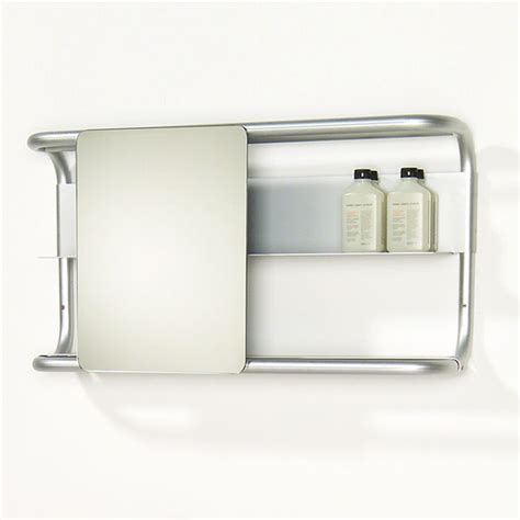 bathroom mirrors with shelf whitehaus collection aeri sliding bathroom mirror with