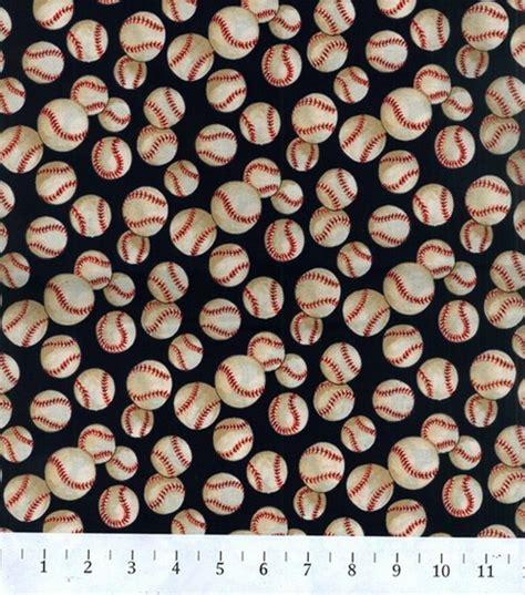 Baseball Quilt Fabric by Novelty Cotton Fabric Navy Baseball Jo