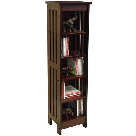mission solid wood 90 cd media storage shelves dark