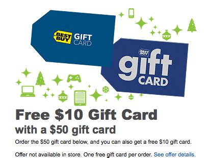 Where To Get Best Buy Gift Cards - best buy buy a 50 gift card get a 10 bonus gift card free includes shipping