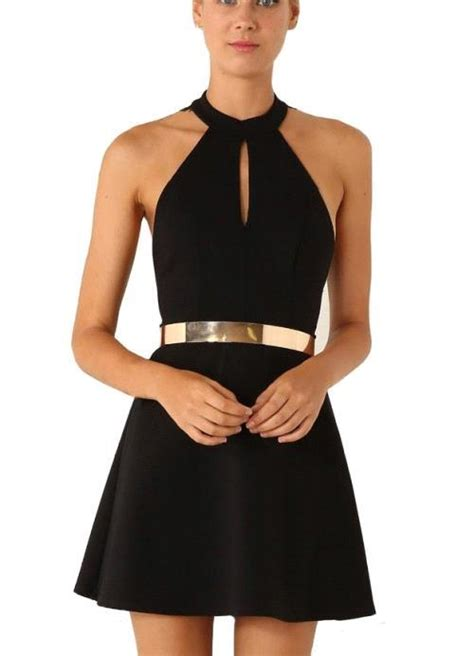 black halter lace sleeveless homecoming dress with
