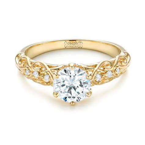 custom vintage style engagement ring 103460