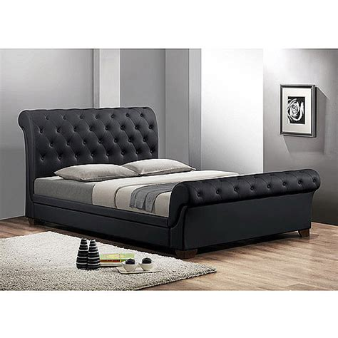 walmart queen headboard leighlin modern queen sleigh bed with upholstered