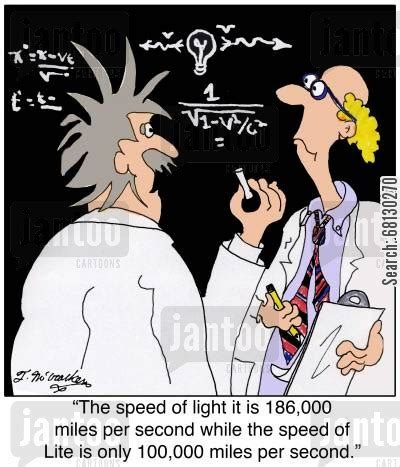 Speed Of Light Per Second by Speed Of Light Humor From Jantoo