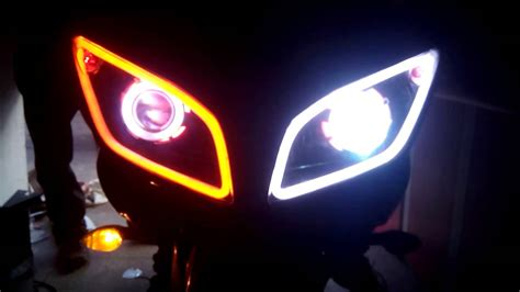 Led R15 audi style light and doublering light projector on yamaha