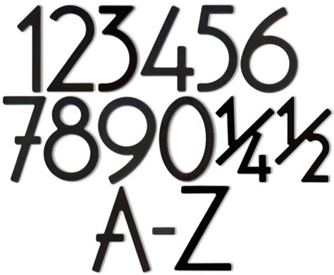 bungalow style house numbers letters satin black