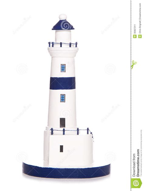 lighthouse for bathroom blue and white lighthouse bathroom ornament stock image