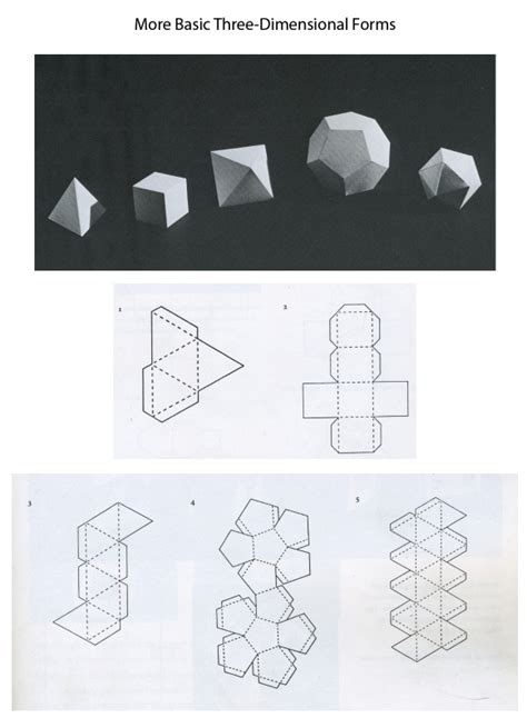 3d Paper Folding Templates - 3d forms templates mrs briggs website shape