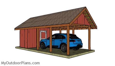 carport with storage plans myoutdoorplans free