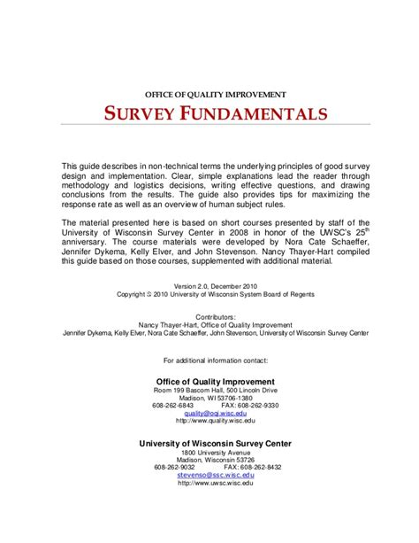 questionnaire design guidelines for establishment surveys survey design guide