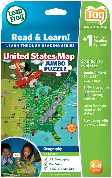 united states learning map leapfrog tag read learn united states map jumbo