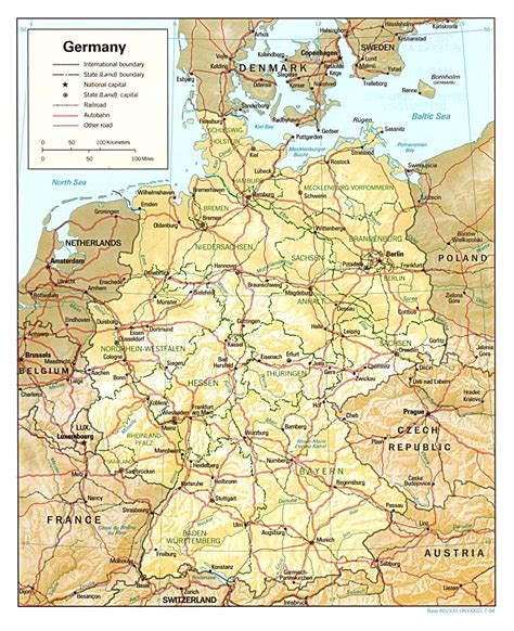 road map of germany maps of germany detailed map of germany in