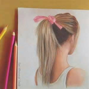 hair colored pencil drawing drawing pencil