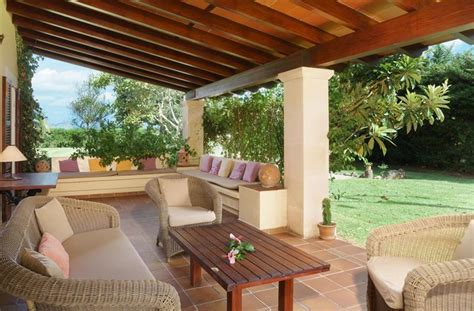 veranda mit pool villa zur miete in pollensa almadrava pollensa urlaub