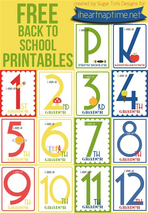 6 back to school tutorials and free printables the diy mommy free back to school printables k 12 i heart nap time