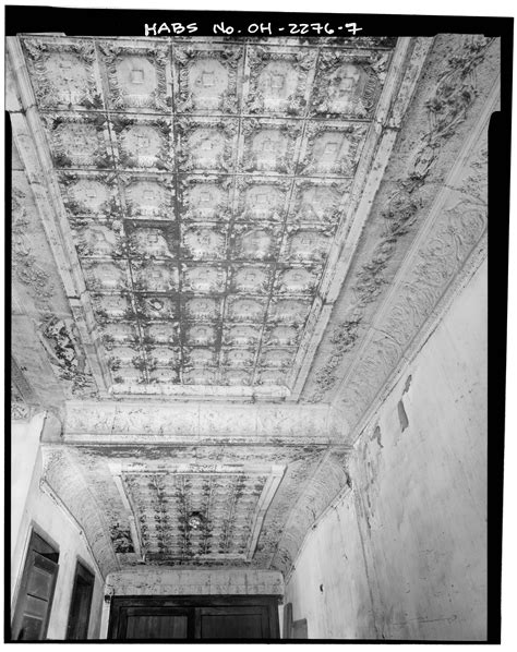 Miami County Ohio Records File Detail Of Entry Lobby Ceiling View East Newton Township Building South