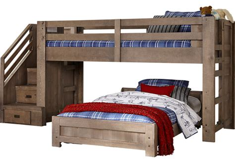 Furniture Loft Bed by Montana Driftwood Step Jr Loft Bed Bunk Loft
